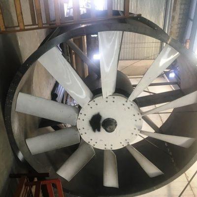 Ventilador 2.5 mts túnel de viento 50 hp